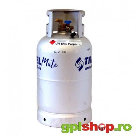 Alugas Travel Mate butelie gas 27 litres cu 80% multivalve